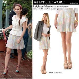 Alice + Olivia floral pleated mini skirt XS